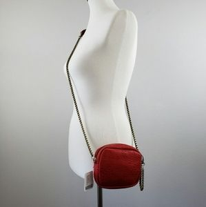 Free People Red Rouge Crossbody Leather Purse
